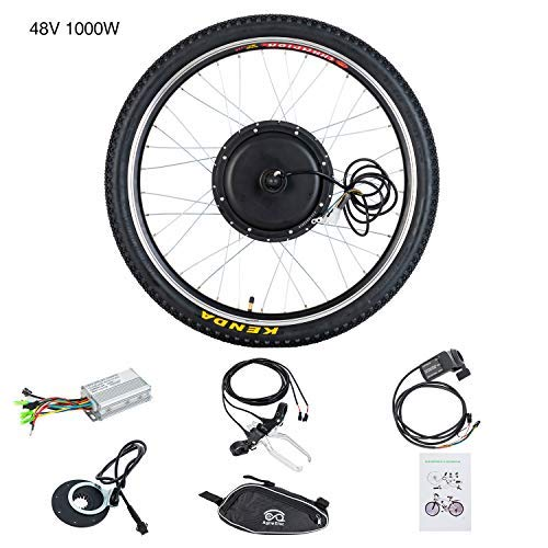 """Murtisol Kit conversione Bici elettrica con Display LCD, Bici elettrica Ebike Motor, 26\"""", Ruota Anteriore, 48V, 1000W"""