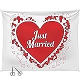 Geschenke 24 Hochzeitsherz zum Ausschneiden mit Zwei Scheren: Bettlaken mit...