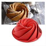 MYQG Baking Tray Large Spiral Shape Silicone Bundt Cake Pan 10- Pollici, Pane Pane Pane Pane Cuocere Cuocere Strumenti