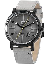 SHARK hombre deportivos Cuarzo relojes de pulseras cuero SH571
