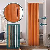 Jago - Puerta plegadiza - Puerta de fuelle fabricada en PVC (cloruro de polivinilo) - Puerta plegadiza de una sola hoja - Medidas84 x 8 x 202 cm - Color cerezo