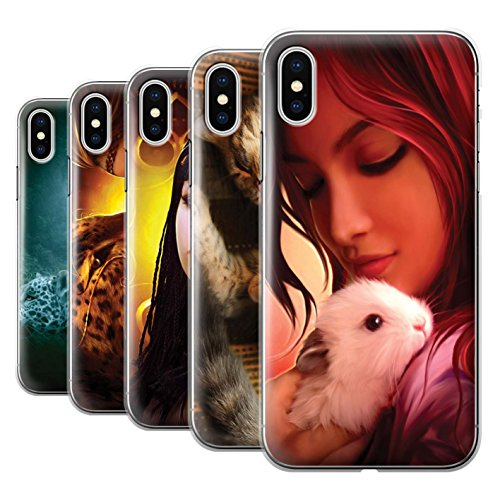 Officiel Elena Dudina Coque / Etui pour Apple iPhone X/10 / Le Voyageur/Manchot Design / Les Animaux Collection Pack 16pcs