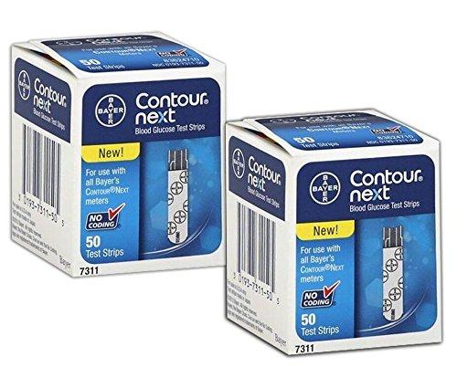 Bayer Contour Next 100 Teststreifen 2x50er Box MHD 08.2020
