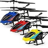 EisEyen Mini RC Flugzeuge Hubschrauber Wiederaufladbare Infrarot Steuerflugzeug Quadcopter mit Sender Spielzeug für Kinder Erwachsene
