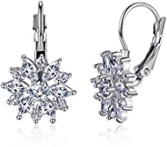 Worry-Free Shopping 18K Gold-Plated Snowflake Marquise-Cut Lever Back Earring