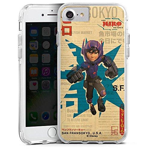 Apple iPhone 6 Plus Bumper Hülle Bumper Case Glitzer Hülle Disney Hiro und Baymax Merchandise Zubehoer Bumper Case transparent