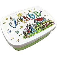 Brotdose mit Namen, Bauernhof, personalisierte Lunchbox, Rosirosinchen, Rosti Mepal
