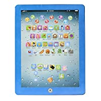 Apacy Child Toy Type Computer Tablet English Learning Study Machine Kids Educational Toy For Toddlers (Blue)