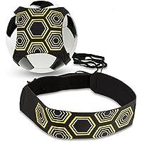 Solo futbolín Trainer, bizoerade Soccer Trainer con cintura ajustable Cinturón, Aid Control Skills Soccer Practice Entrenamiento para Niños Principiantes Kick Off Trainer