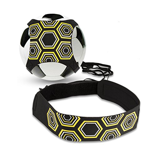 Solo Fußball Kicker Trainer,BizoeRade Soccer Trainer mit verstellbarem Taillengürtel, Aid Control Skills Soccer Practice Training für Kinder Anfänger Kick off Trainer (Fußball Kicker)
