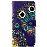 Galaxy S7 Hülle,Galaxy S7 Schutzhülle,Galaxy S7 Leder Tasche, Surakey Lederhülle Galaxy S7 PU Leder Flip Case Brieftasche Hülle Wallet Tasche Case für Galaxy S7, Blue Owl