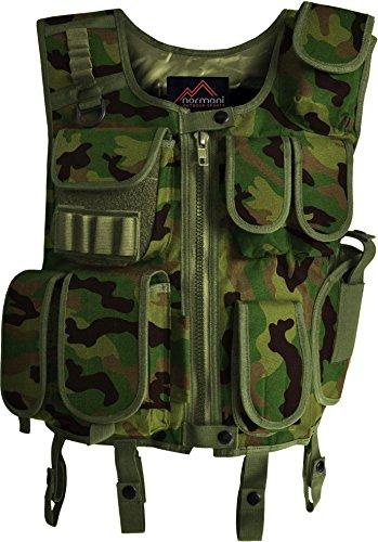 Taktische SWAT Weste mit Pistolenholster und abnehmbarem Schriftzug auf dem Rücken ARMY