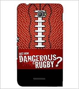 PrintDhaba Rugby D-5953 Back Case Cover for SONY XPERIA E4 (Multi-Coloured)