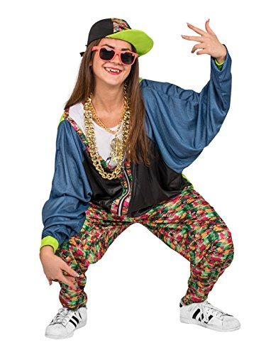 80er Kostüm Hip Hop - Generique - Hip-Hop Kostüm 80er Jahre Erwachsene Einheitsgröße
