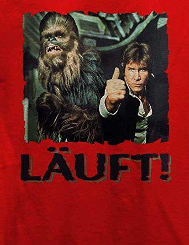 Laeuft 66 T-Shirt Rot