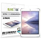 (Paquete de 2) iPad Mini 3 Protector de pantalla, OliveIce resistente al rayado, Capas de protección, Super delgado, Artículo, Alta definición (HD) Protector de pantalla anti-Glare para Apple iPad Mini 1/ iPad Mini 2/ iPad Mini 3