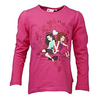 LEGO Wear Sweatshirt  Col ras du cou Opaque Fille - Rose - Rosa (458 PINK) - FR : 4 ans (Taille fabricant : 104)
