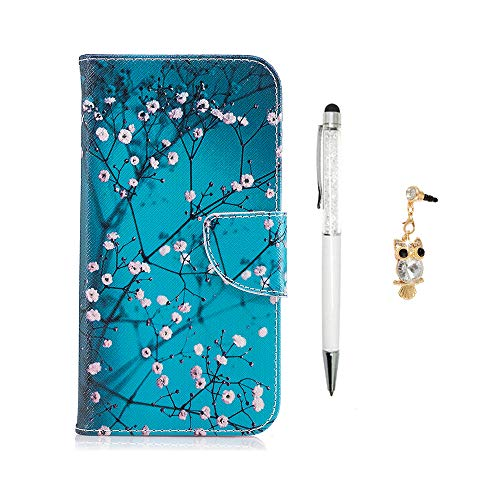 J5Fall 2017, J5Flip Folio Wallet Tasche, yokirin PU Leder Schutzhülle mit Magnetverschluss Ständer ID Card Holder & Staub Plug & Touch Pen für Samsung Galaxy J5 ()