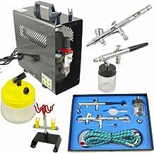 Aerógrafo compresor Set Completo con pistola & soporte & set de limpieza AS de 186a & BD280& 777& bd16