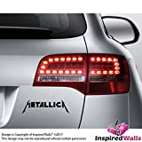 2x Metallica Abziehbild 15x6cm Aufkleber for Ninja Auto JDM Dashboard Notebook by Inspired Walls®
