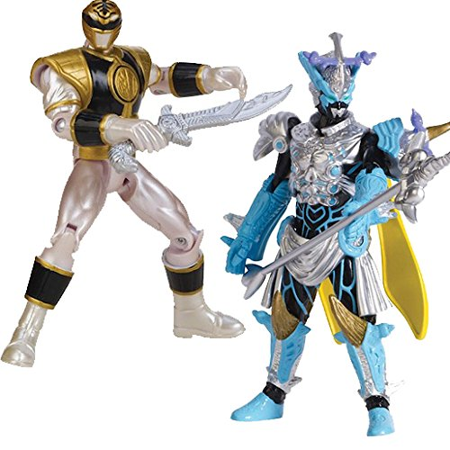 """Image of POWERRANGERS Moprhin Megaforce White Ranger vs Vrak Villain 4"""" figure set"""