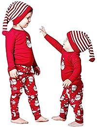 Ropa Bebé , Amlaiworld Navidad Bebé niño niña trajes ropa Print camiseta Tops + pantalones Conjunto 0-24 Mes
