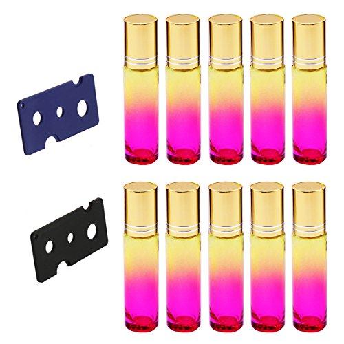 Healifty 10 ML Glasroller Rollerflaschen 2 stücke Opener Werkzeug enthalten 10 stücke