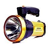 Taschenlampe hell wiederaufladbare LED Taschenlampe Handscheinwerfer mit Griff Spotlight 10000 Lumen mit USB-Ausgang als mobile Macht