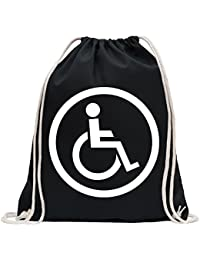 Kiwistar Design Usuario Silla de Ruedas 2 Divertido Mochila Deportivo para el Fitness. Gymbag para