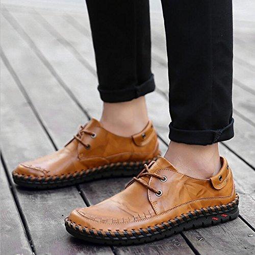 Hommes Casual Hommes chaussures décontractées mocassins plats en plein air exercice Sneakers Comfort conduite chaussures ( Color : Shoelace1-42 ) Shoelace1-40