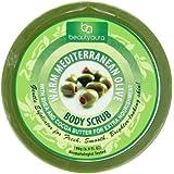 Beauty Aura Warm Mediterranean Body Scrub Olive 6.9 Ounce