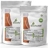 Green Tea-2000 | 1000 Tabletten - 2000mg/Portion | 100% Vegan | Hochdosiertes Grüner Tee Extrakt | Natürlicher Fatburner | Reich an Antioxidantien | Premium Qualität zum fairen Preis