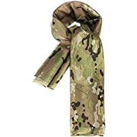 Dcolor Foulard Echarpe Cheche Cache-Col Camouflage Tactique Militaire Armee Police Moto couleur camouflage clair