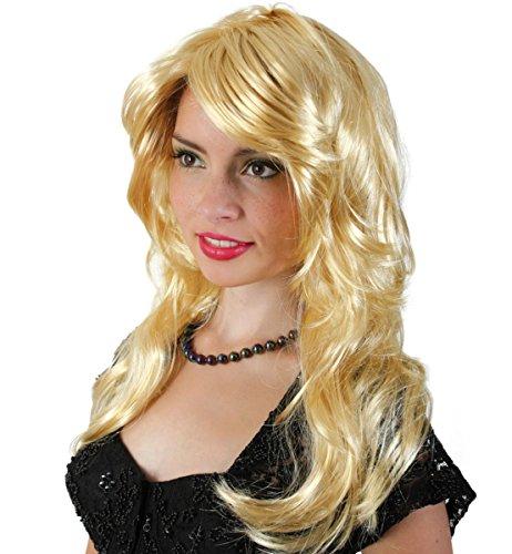 Kostüm Zubehör Damen Perücke Heather zu Karneval, Fasching (Zubehör Heather)