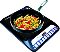Orbon Surya Crystel 2000-Watt Induction Cooktop ( Black ) With Cord/With 8 Level Intelligent Cooking Function ( Actual Product May Differ From Image )