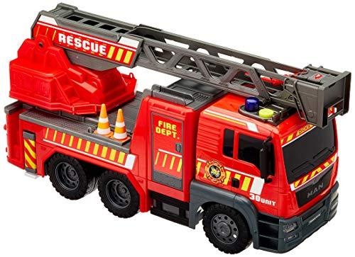 Dickie Toys 203719017 Fire Engine 203719017-Fire, Feuerwehrauto mit ausziehbarer Leiter, Licht & Sound, 54 cm, Mehrfarbig -