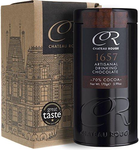 1657 Handgemischte 70% Dunkle, Luxus Trinkschokolade, 140g Dose