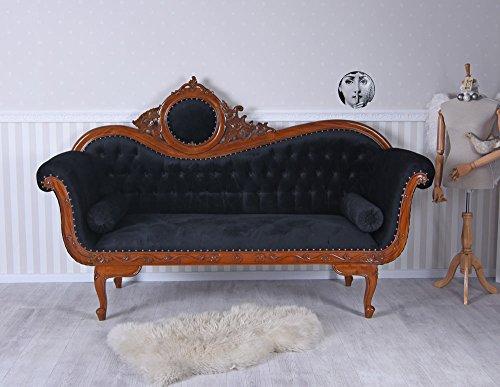 Antik Sofa IM BAROCKSTIL RECAMIERE Mahagoni HOLZSCHNITZEREIEN Rokoko Palazzo Exklusiv