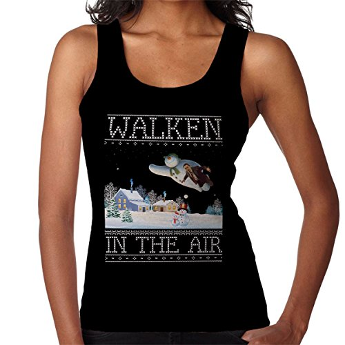 Christopher Walken In The Air Snow Man Christmas Knit Women's Vest Black