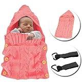 MiniGreen Bébé Couvertures D'emmaillotage Avec Boutons Sac De Couchage Tricotée...
