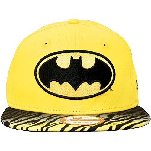 New Era x DC Comics - Casquette Snapback Homme Batman 9Fifty Animal Fade - Yellow/Black - Taille S/M