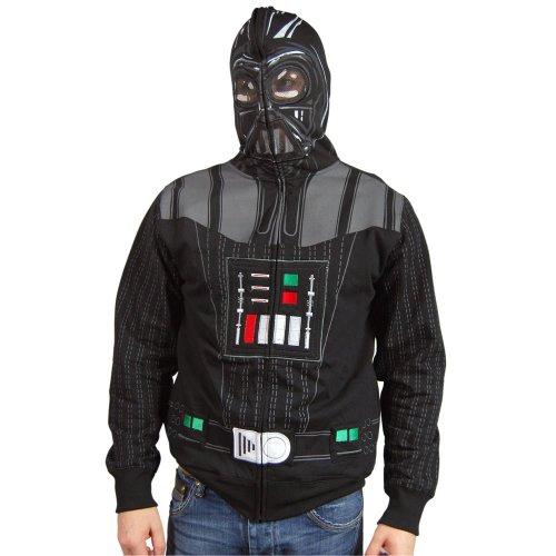 Mens Star Wars Darth Vader Costume Hoodie Black Black ()
