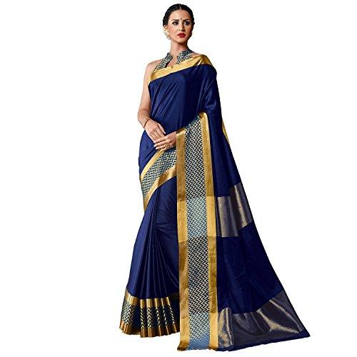 Harikrishnavilla Women's Cotton Silk Sarees With Blouse Piece