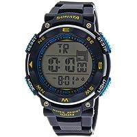 Sonata Ocean Series II Digital Grey Dial Men's Watch - NF77011PP03J