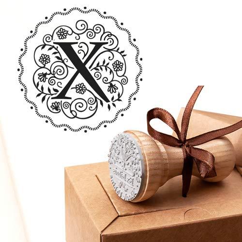 Buchstabe X Stempel, Alphabet Initiale X, Benutzerdefinierte Monogramm-Initiale, Hochzeit Gefälligkeiten, Geburtstag Initiale X