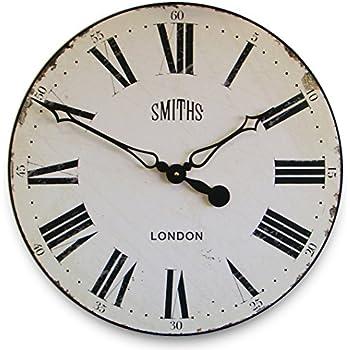 smithu0027s white wall clock 50cm
