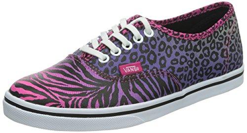 Vans U AUTHENTIC LO PRO (SUEDE) MONK S, Chaussures de Gymnastique femme - Multicolore - multicolore (Zebra), 39 EU
