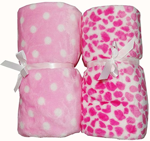 Love Bird Baby Blanket Set Of 2 (Flannel) (Cotton Socks Worth RS.60 FREE)