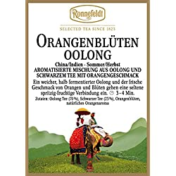 Ronnefeldt - Orangenblüten Oolong - Aromatisierter Schwarzer Tee - 100g