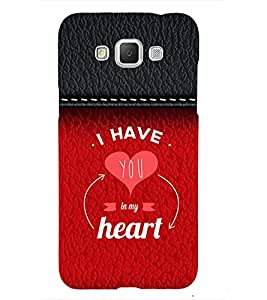You are in My Heart 3D Hard Polycarbonate Designer Back Case Cover for Samsung Galaxy Grand Max
